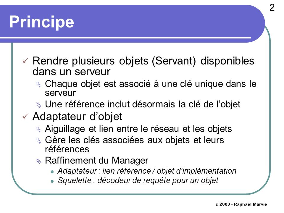 23 c 2003 - Raphaël Marvie Interactions version 9