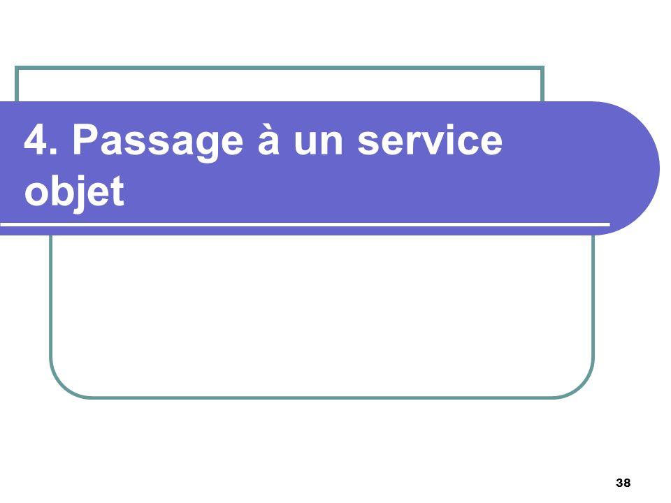 38 4. Passage à un service objet