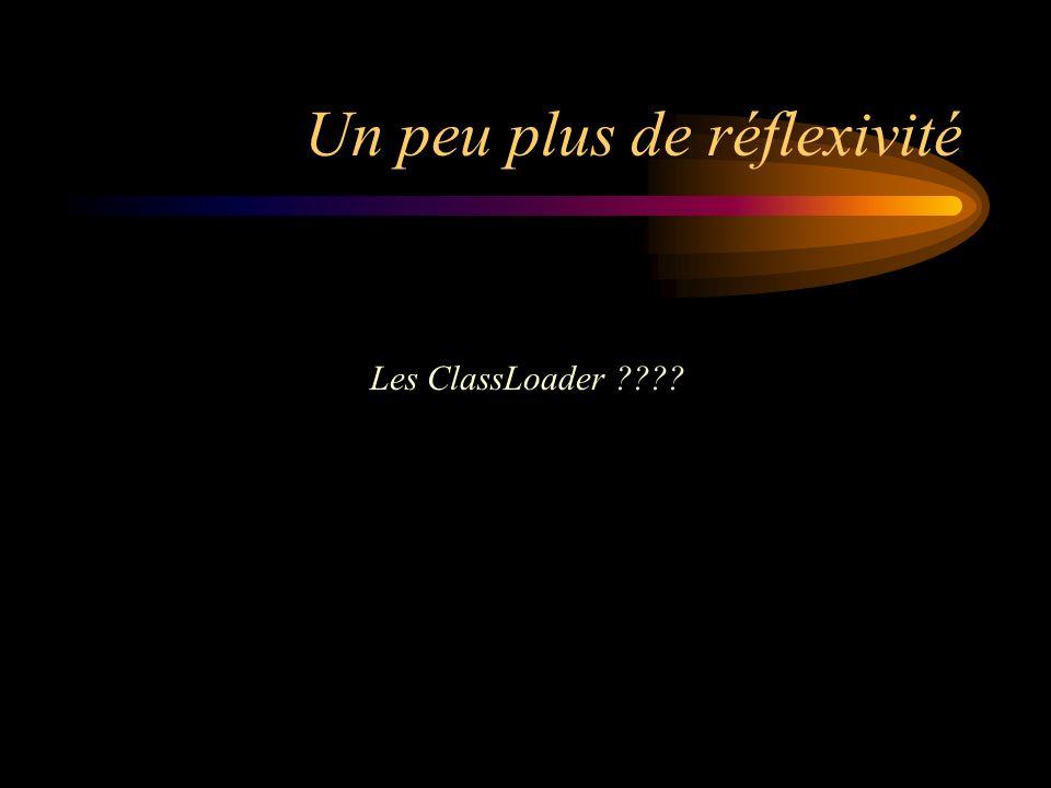 Un peu plus de réflexivité Les ClassLoader ????