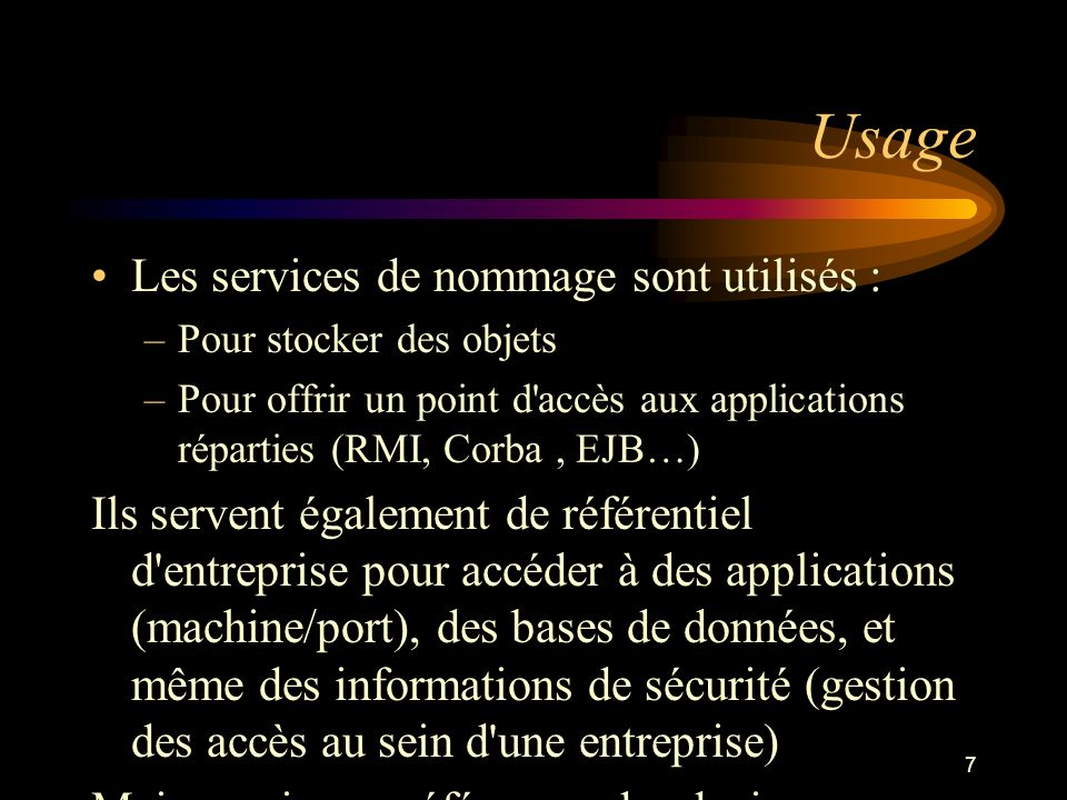8 Service providers