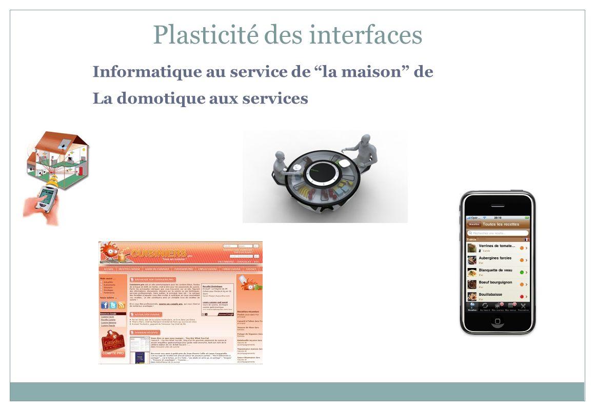 Informatique au service de la maison de La domotique aux services Plasticité des interfaces
