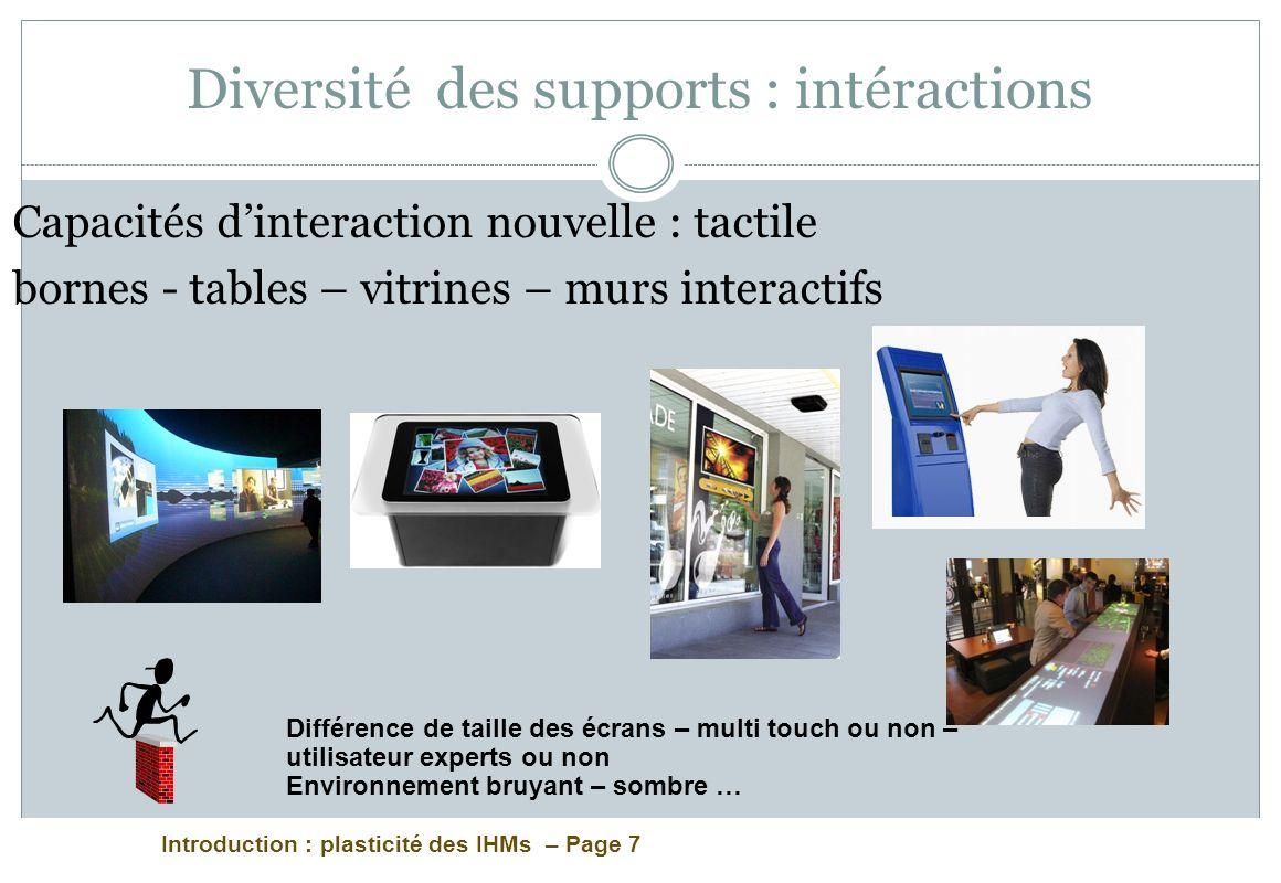 Introduction : plasticité des IHMs – Page 58 Intervention W3C Diaporama en ligne à : http://www.w3.org/2011/Talks/dhm-polytechnice/ http://www.w3.org/2011/Talks/dhm-polytechnice/ Documents recommandés : *http://www.alistapart.com/articles/responsive-web- design/ l article fondateur de l approche du Responsive Web Design * ainsi que http://futurefriend.ly/resources.html qui répertorie les approches les plus avancées et les difficultés identifiées en la matièrehttp://www.alistapart.com/articles/responsive-web- design/ http://futurefriend.ly/resources.html