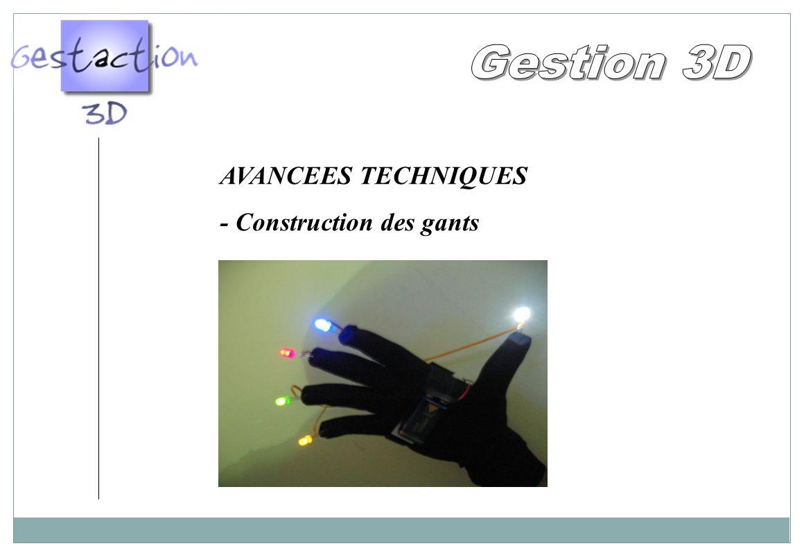 AVANCEES TECHNIQUES - Construction des gants