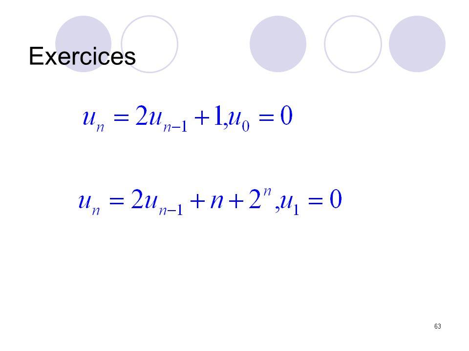 63 Exercices