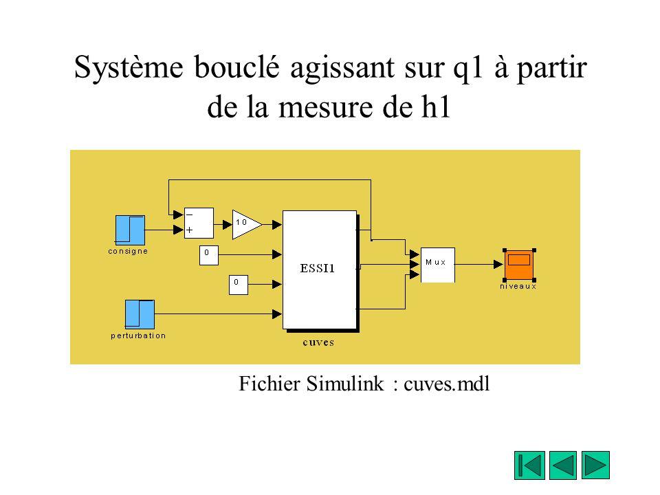 Doù le bloc « cuves » de Simulink C est un bloc « subsystem » (library connections). Il est masqué, il faut faire « look under mask », ou « unmask » p