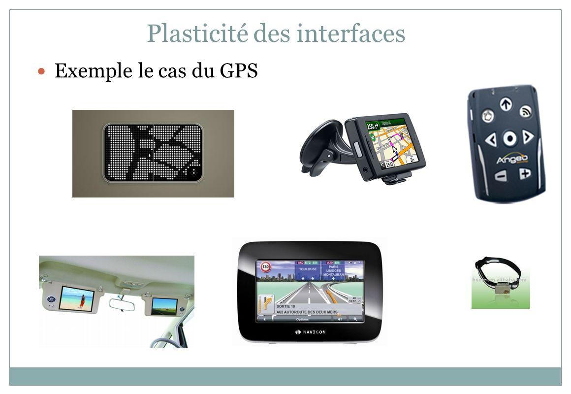 Exemple le cas du GPS Plasticité des interfaces