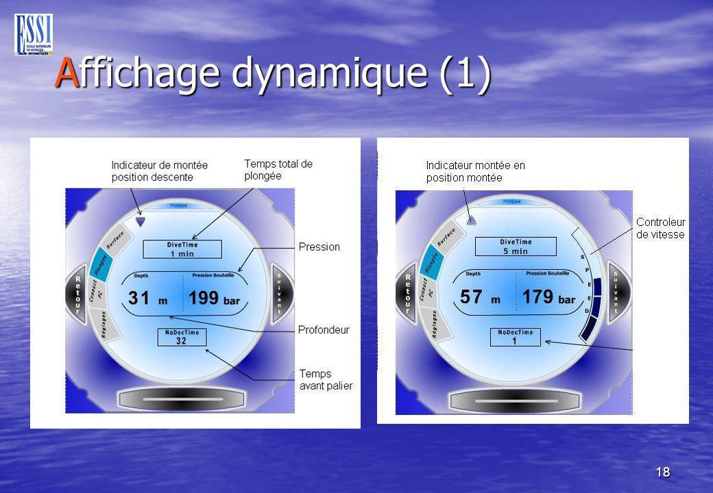 18 Affichage dynamique (1) Affichage dynamique (1)