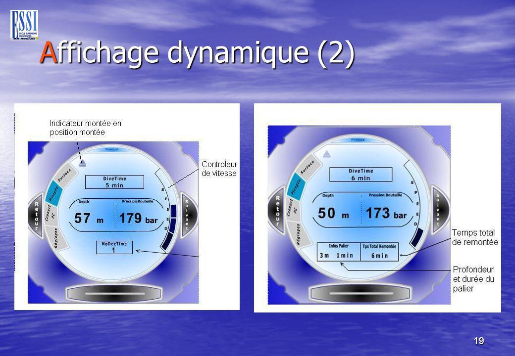 19 Affichage dynamique (2) Affichage dynamique (2)