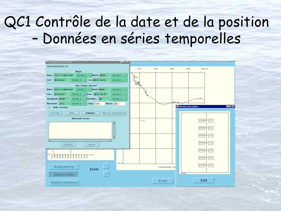 QC1 Contrôle de la date et de la position – Données en séries temporelles