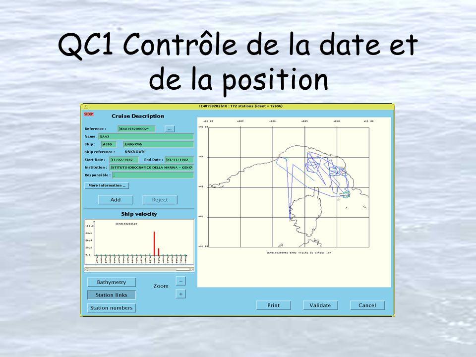QC1 Contrôle de la date et de la position