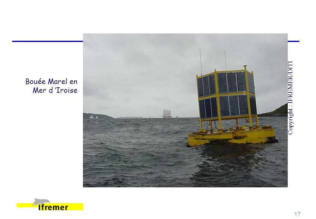 17 Bouée Marel en Mer d Iroise Copyright : IFREMER/DITI