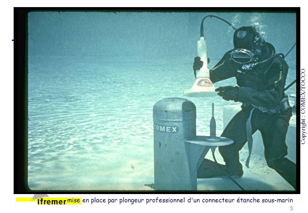 3 Copyright : COMEX/TOCCO mise en place par plongeur professionnel d'un connecteur étanche sous-marin