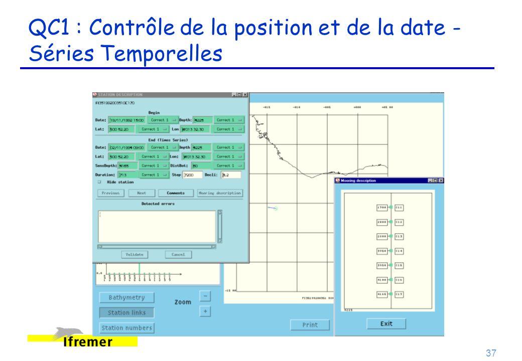 37 QC1 : Contrôle de la position et de la date - Séries Temporelles