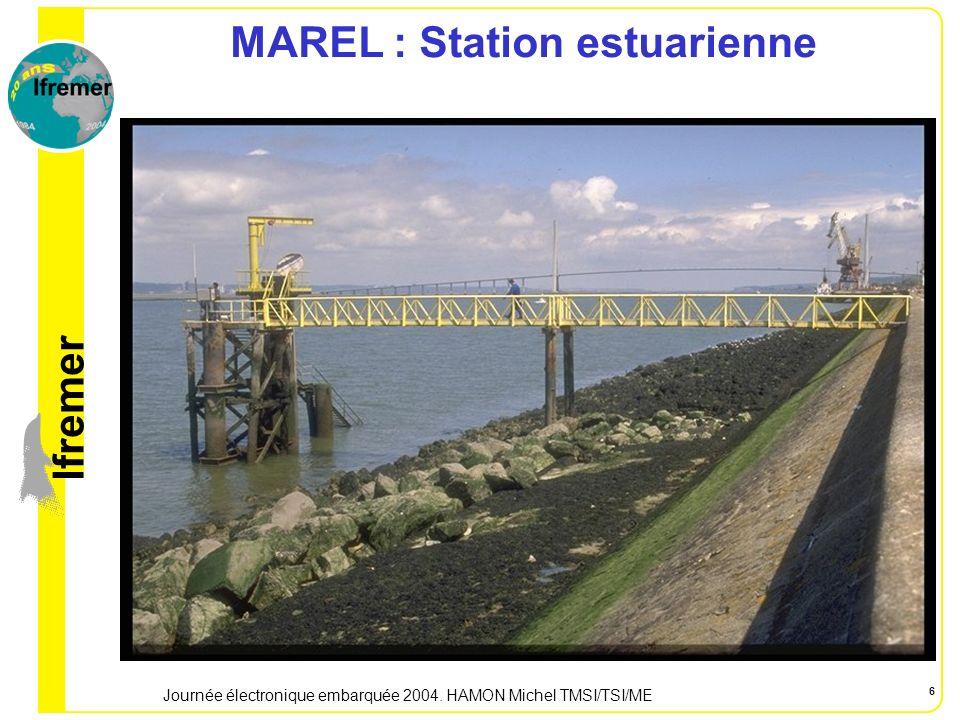lfremer Journée électronique embarquée 2004. HAMON Michel TMSI/TSI/ME 6 MAREL : Station estuarienne