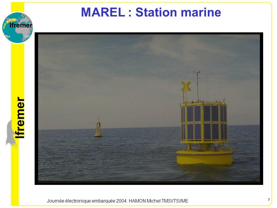 lfremer Journée électronique embarquée 2004. HAMON Michel TMSI/TSI/ME 7 MAREL : Station marine