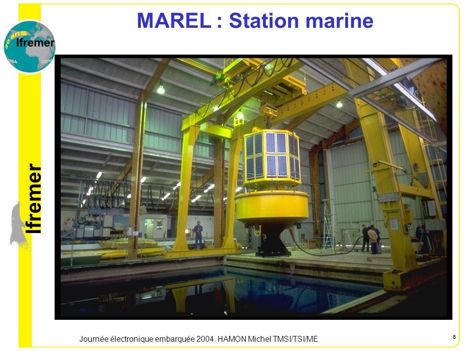 lfremer Journée électronique embarquée 2004. HAMON Michel TMSI/TSI/ME 9 MAREL : Station marine