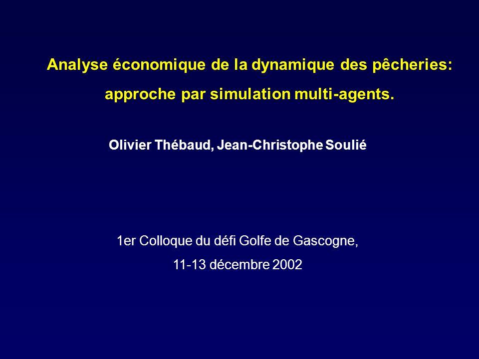Analyse économique de la dynamique des pêcheries: approche par simulation multi-agents.