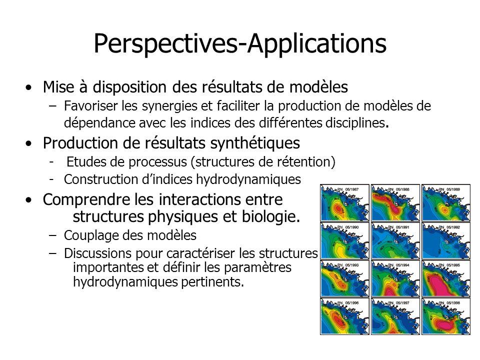 Perspectives-Applications Mise à disposition des résultats de modèles –Favoriser les synergies et faciliter la production de modèles de dépendance ave