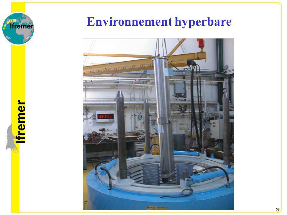 lfremer 32 Environnement hyperbare