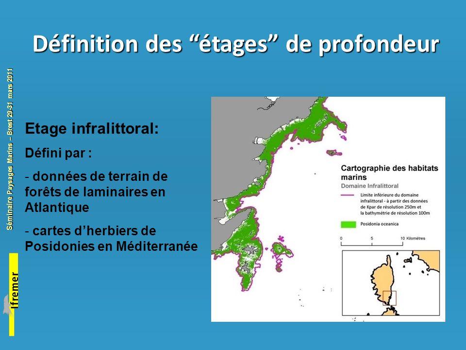 Séminaire Paysages Marins – Brest 29-31 mars 2011 Habitats Eunis décrits en Atlantique