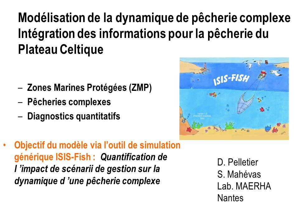 Modélisation de la dynamique de pêcherie complexe Intégration des informations pour la pêcherie du Plateau Celtique D.