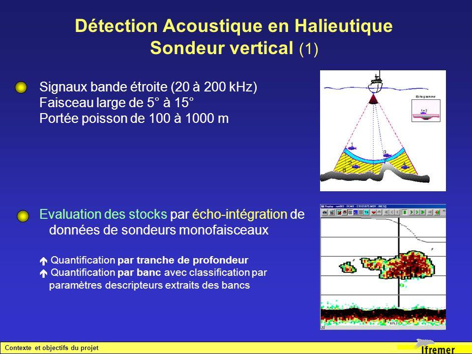 Evaluation des stocks par écho-intégration de données de sondeurs monofaisceaux Quantification par tranche de profondeur Quantification par banc avec