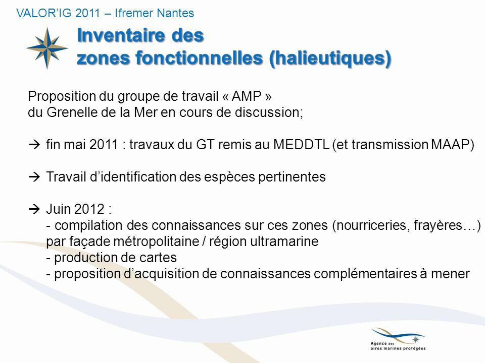 Proposition du groupe de travail « AMP » du Grenelle de la Mer en cours de discussion; fin mai 2011 : travaux du GT remis au MEDDTL (et transmission M