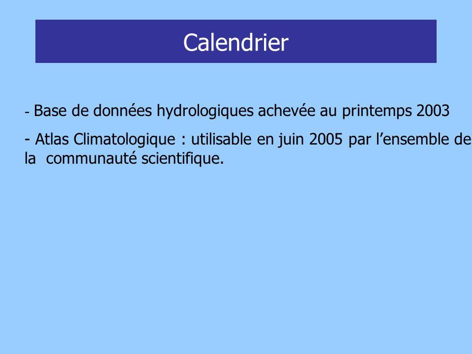 Profils CTD : 4339 profils Jeu de données IFREMER : 12729 stations