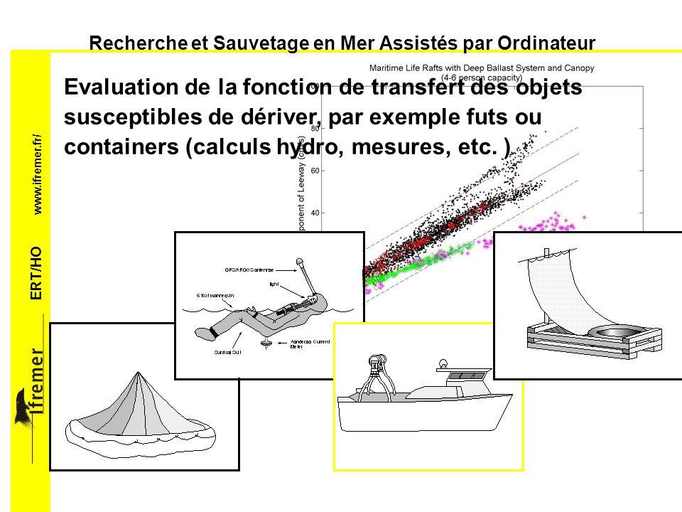 ERT/HO www.ifremer.fr/ Recherche et Sauvetage en Mer Assistés par Ordinateur Recalage de la prévision des conditions de mer à partir de la réponse observée et des mesures satellitaires ou autres.