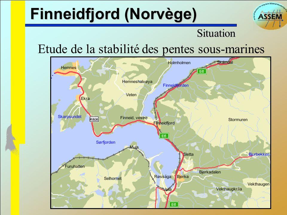 Finneidfjord (Norvège) Etude de la stabilité des pentes sous-marines Situation