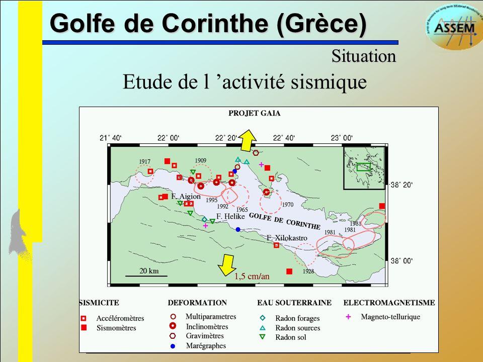 Golfe de Corinthe (Grèce) Etude de l activité sismique Situation