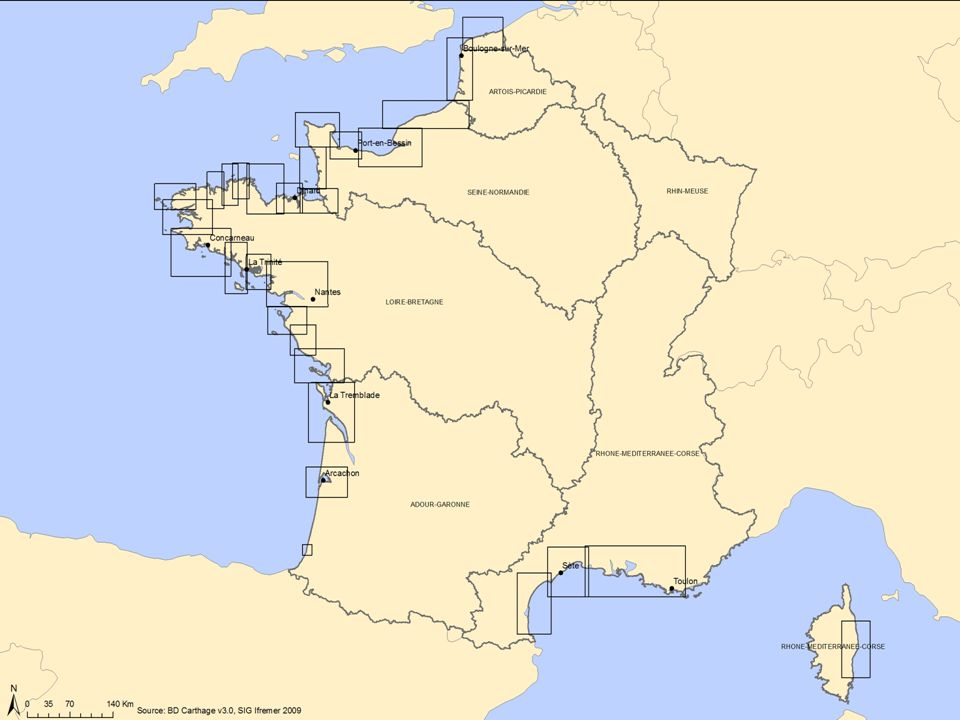 Atlas National des sources de contamination microbiologique des zones conchylicoles 13