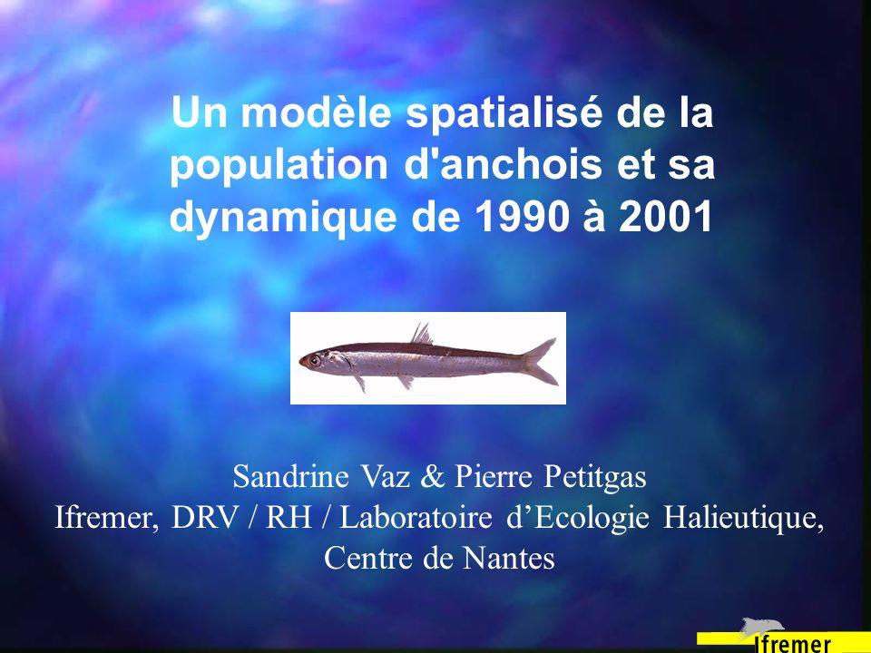 Un modèle spatialisé de la population d'anchois et sa dynamique de 1990 à 2001 Sandrine Vaz & Pierre Petitgas Ifremer, DRV / RH / Laboratoire dEcologi