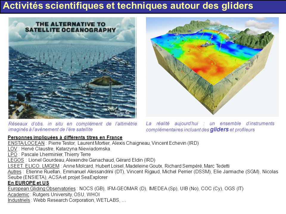 Crowded area for commercial navigation Fishing: prawn, tuna, …, trawlers, … In summer: recreative uses, sport fishing Navies: French (Toulon), Italian and NATO (La Spezia), Spanish (Gerona ?) Toulon: Basis of nuclear submarines French « ZONEX » Why should we take care of the navigation in the Gulf of Lions .