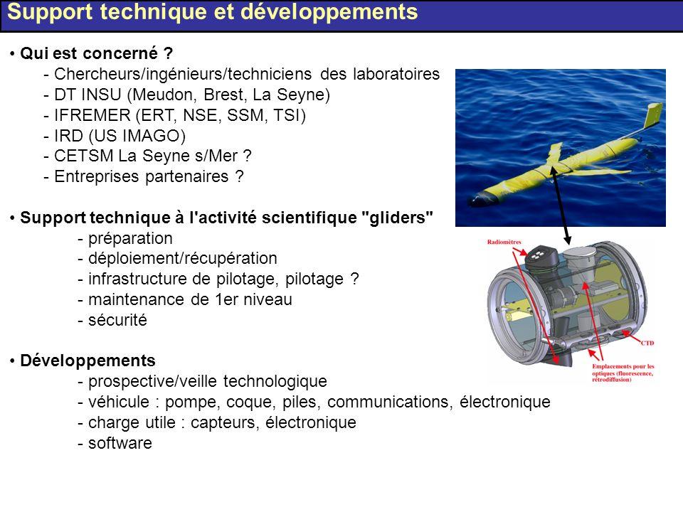Qui est concerné ? - Chercheurs/ingénieurs/techniciens des laboratoires - DT INSU (Meudon, Brest, La Seyne) - IFREMER (ERT, NSE, SSM, TSI) - IRD (US I