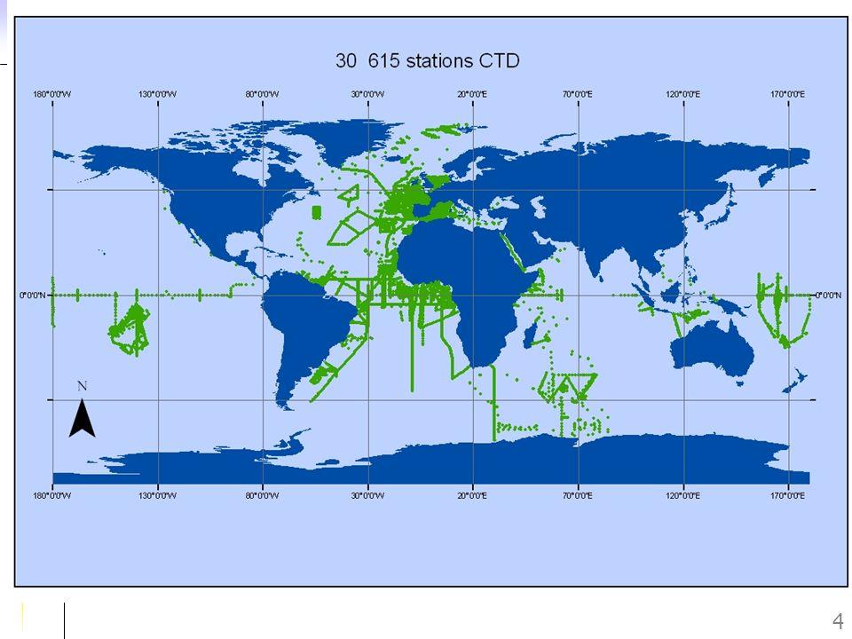 Journée des Utilisateurs du SISMER – Novembre 2005 15 Contrôles qualité (QC) QCO : Contrôle automatique du format QC1 : Contrôle automatique et visuel des en-têtes stations QC2 : Contrôle automatique et visuel des données un indicateur de qualité à chaque valeur numérique (Échelle GTSPP) 0123459 Pas QCBonHors stat DouteuxFauxModif.Défaut