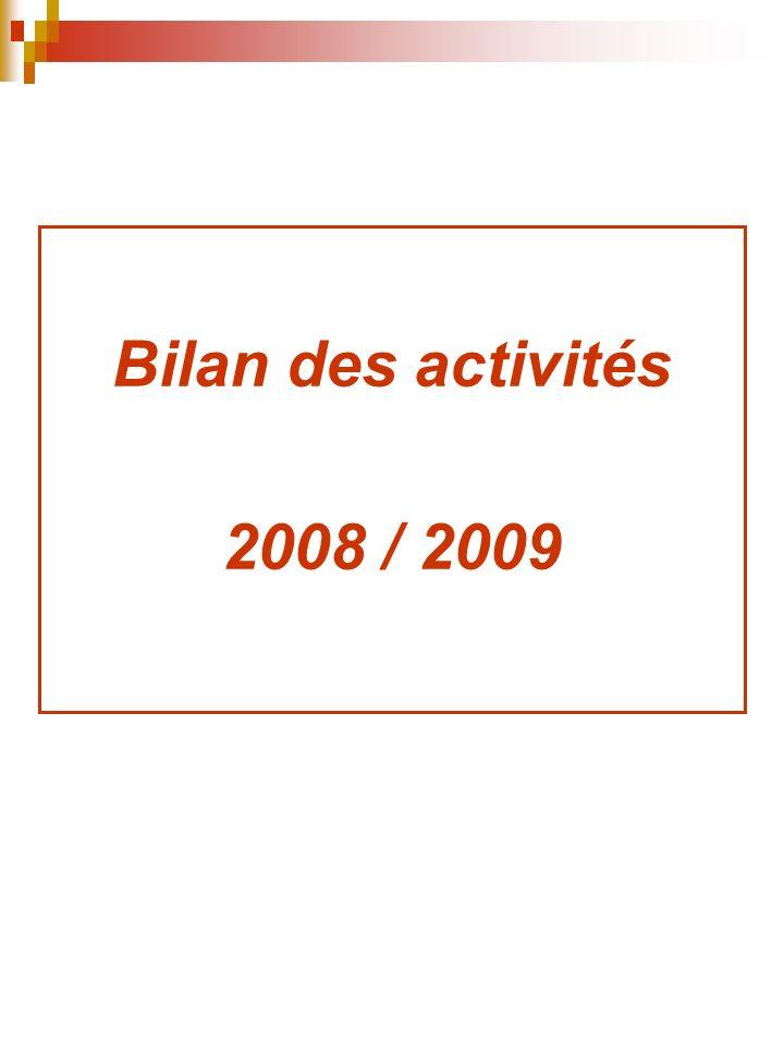 Bilan des activités 2008 / 2009