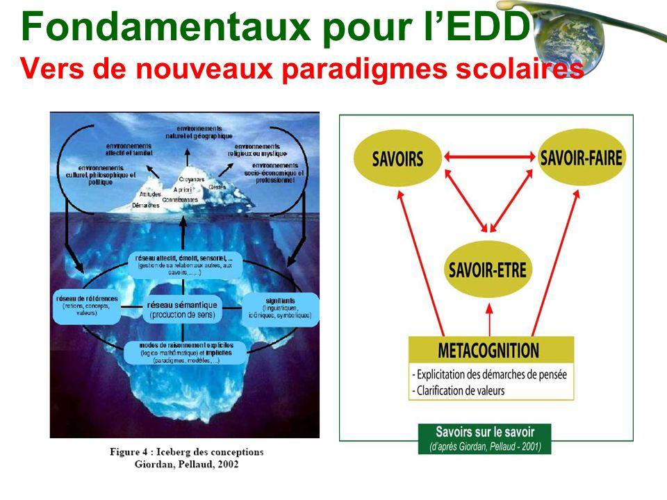 Fondamentaux pour lEDD Vers de nouveaux paradigmes scolaires
