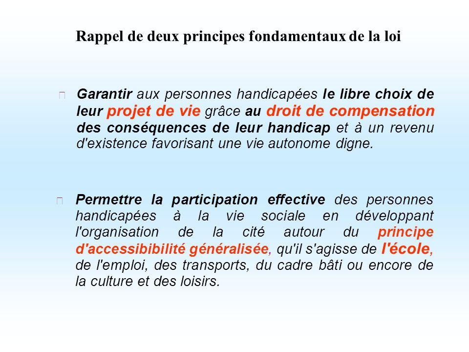 Garantir aux personnes handicapées le libre choix de leur projet de vie grâce au droit de compensation des conséquences de leur handicap et à un reven