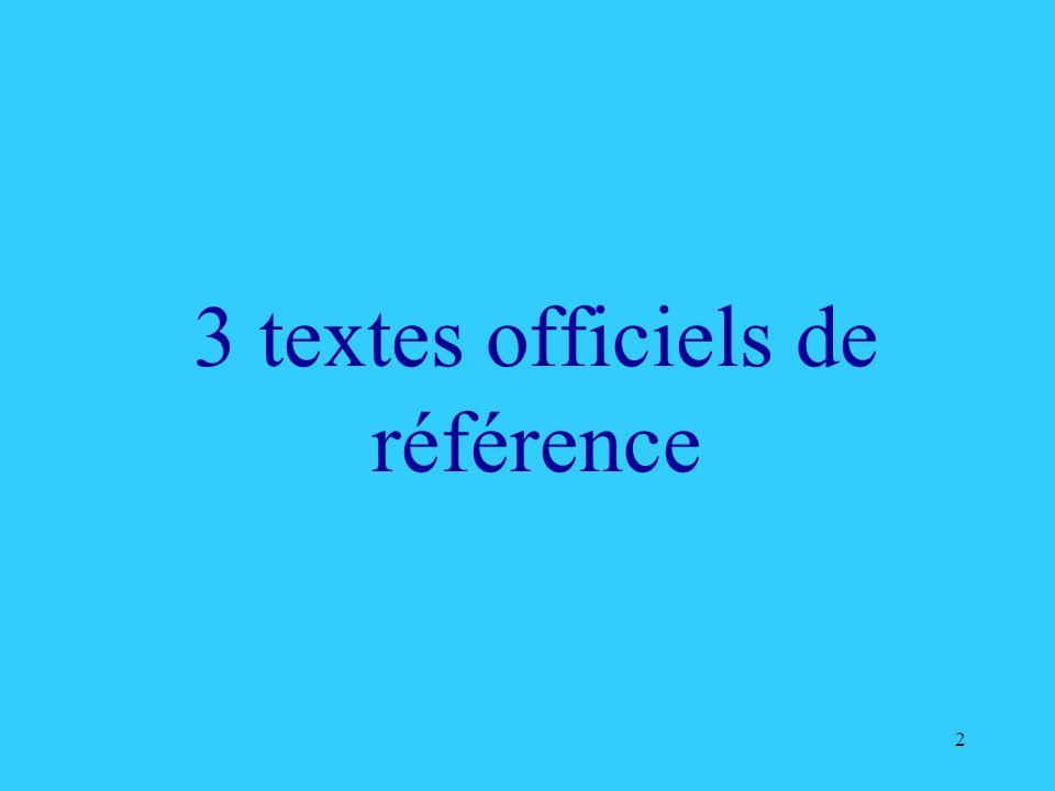 2 3 textes officiels de référence