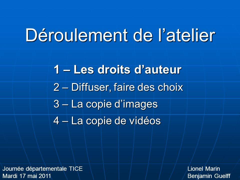 Diffuser, faire des choix Format + Taille = Poids Lionel Marin Benjamin Guelff Journée départementale TICE Mardi 17 mai 2011 La vidéo Avi Mp4 Wmv Mov