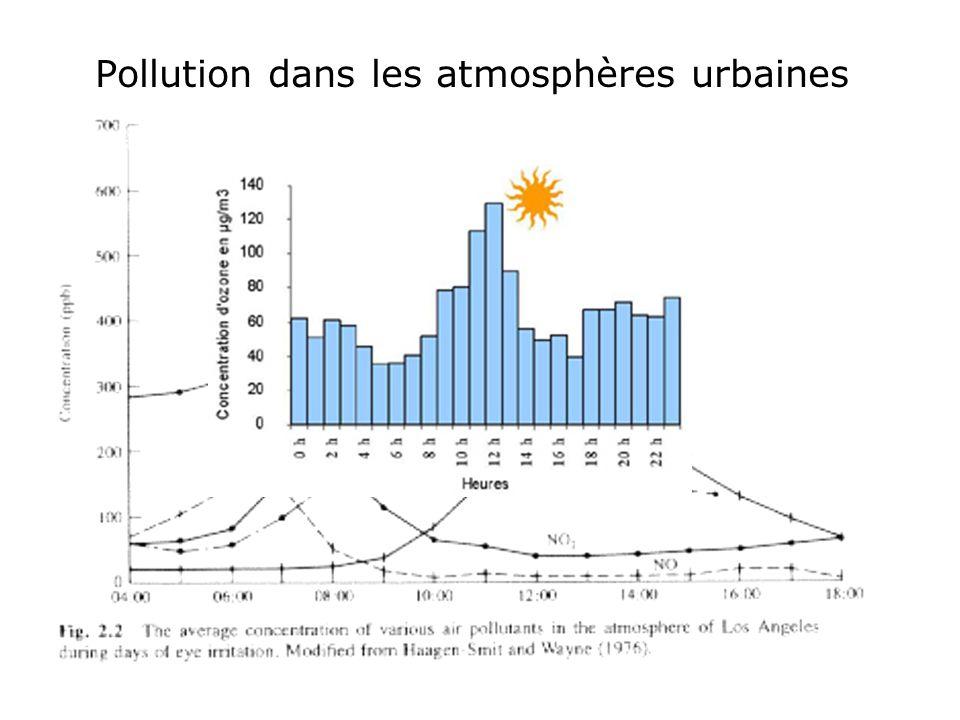Pollution dans les atmosphères urbaines
