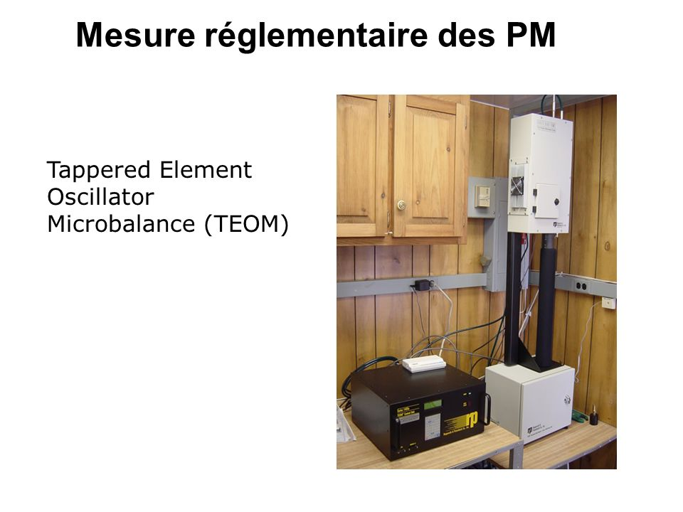 Mesure réglementaire des PM Tappered Element Oscillator Microbalance (TEOM)