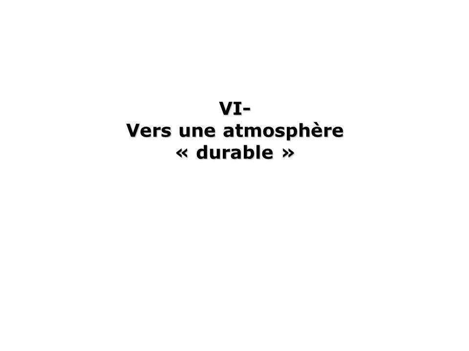 VI- Vers une atmosphère « durable »