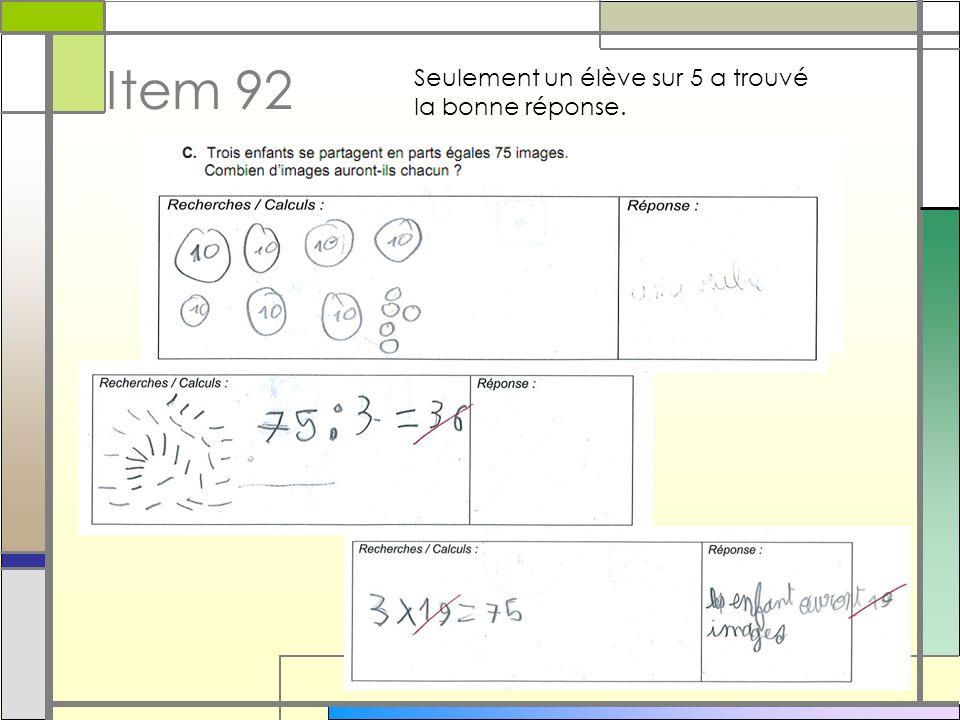 C3 – Poser et effectuer une multiplication : 81% de réussite avec le même résultat