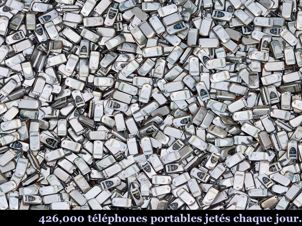 426,000 téléphones portables jetés chaque jour.