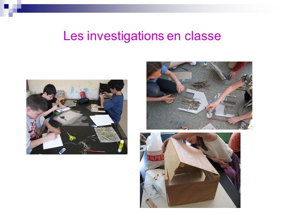 Les investigations en classe