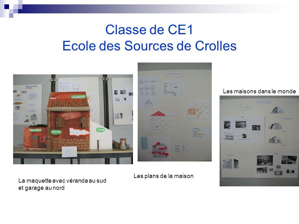 Classe de CE1 Ecole des Sources de Crolles La maquette avec véranda au sud et garage au nord Les plans de la maison Les maisons dans le monde
