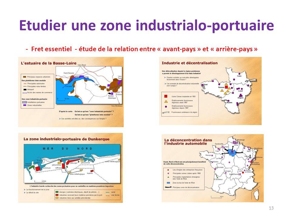 Etudier une zone industrialo-portuaire 13 - Fret essentiel - étude de la relation entre « avant-pays » et « arrière-pays »