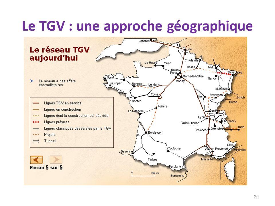 Le TGV : une approche géographique 20